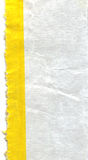 Piece of paper with yellow line royalty free stock photos