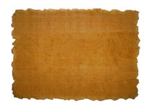 Piece of papyrus texture Stock Images