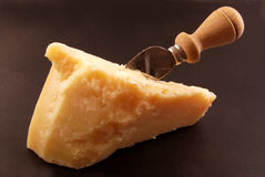 Piece of Parmesan cheese Stock Images