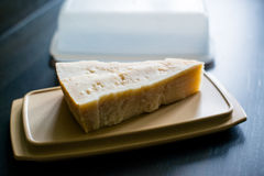 Piece of parmesan cheese Royalty Free Stock Images
