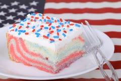 Piece of Patriotic Cake Stock Image