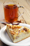 Piece pie and cup of tea Stock Image