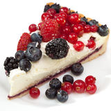 Piece of a pie with fresh berries Royalty Free Stock Photos