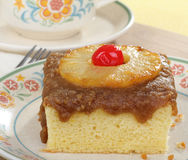 Piece of Pineapple Cake Royalty Free Stock Photography