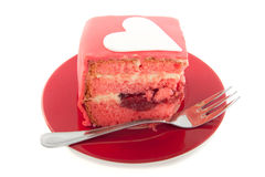 A piece of pink pie Stock Photography