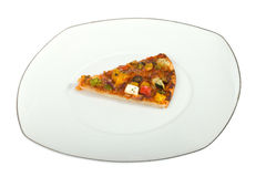 Piece of the pizza Royalty Free Stock Image