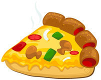 A piece of pizza vector illustration