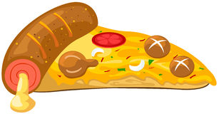 A piece of pizza stock illustration