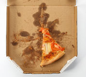 Piece of pizza. In a takeaway box Stock Image