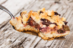 Piece of Plum Cake on a lifter Royalty Free Stock Photos