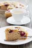 Piece of plum cake Royalty Free Stock Images