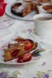 A piece of plum pie Royalty Free Stock Image