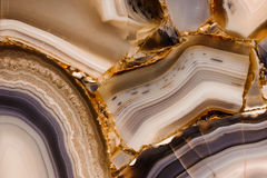 Piece of polished agate texture Royalty Free Stock Images