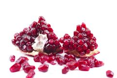 Piece of pomegranate Royalty Free Stock Images