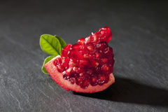 Piece of pomegranate, close up Royalty Free Stock Photography