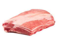 Piece of pork isolated on white background Royalty Free Stock Photos