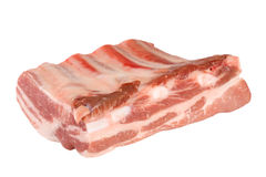 Piece of pork ribs isolated on white background Stock Photos