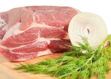 Piece of pork for roasting Stock Images