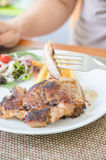 Piece pork steak Royalty Free Stock Photography