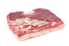 A piece of pork on a white background Royalty Free Stock Images