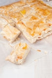 Piece of puff pastry with cheese Royalty Free Stock Photo