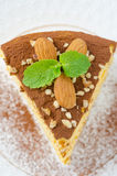 Piece of pumpkin cheesecake closeup Stock Photography