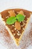 Piece of pumpkin cheesecake closeup Stock Photography