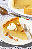 A Piece of Pumpkin Pie Royalty Free Stock Photography