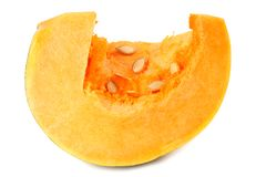 piece of pumpkin on white background royalty free stock image
