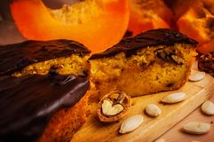 A piece of pupkin pie Royalty Free Stock Image
