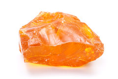 Piece of pure fir rosin Stock Photography