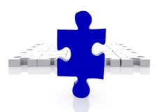 Piece of a puzzle Royalty Free Stock Image