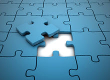 Piece of the puzzle Stock Image