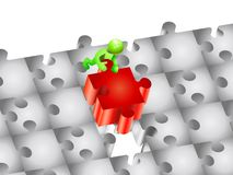 Piece of a puzzle Royalty Free Stock Photo
