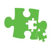 Piece of the puzzle Stock Photos