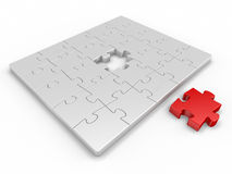 Piece for puzzle Royalty Free Stock Image