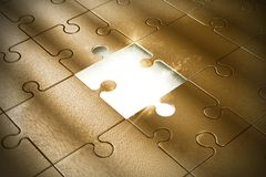 Piece of the puzzle Royalty Free Stock Images