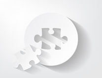 Piece of puzzle paper Stock Photo