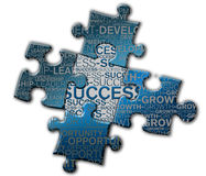 Piece of puzzle of the success.  royalty free stock image