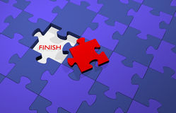 Piece of a puzzle to success, finish your work suc Stock Photography