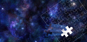A Piece of the Puzzle of the Universe Stock Images
