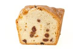 Piece of raisin cake isolated Royalty Free Stock Photos