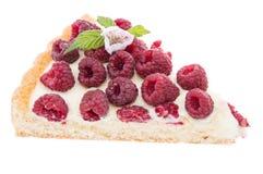 Piece of Raspberry Tart on white Royalty Free Stock Photo