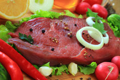 Piece of raw meat Stock Photos