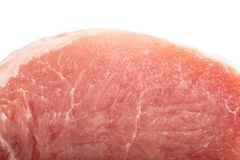 Piece of raw meat isolated on white background. Raw pork meat on white Stock Photography