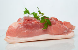 Piece of raw pork Royalty Free Stock Photos