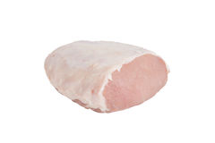 Piece of raw pork isolated on white background.  Royalty Free Stock Image