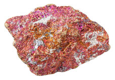 Piece of red Chalcopyrite stone isolated Royalty Free Stock Photo