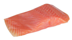 Piece of red fish fillet isolated Royalty Free Stock Image