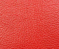A piece of red natural leather Stock Images